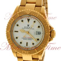 Rolex Yacht-Master, White Dial - Yellow Gold on Bracelet