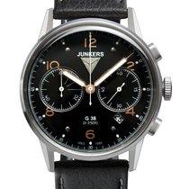 Junkers 6984-5 G38 Chronograph Herrenuhr silber, schwarz 10...