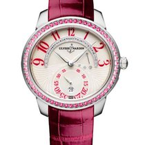 Ulysse Nardin Jade 18K White Gold & Rubies & Diamonds...