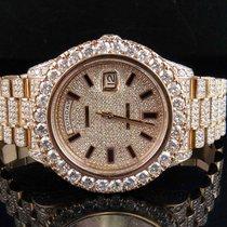 Rolex Mens Rolex Day-Date 2 II 18k 41MM President 218235 Rose...