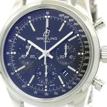 Breitling Polished Breitling Transocean Chronograph Steel...