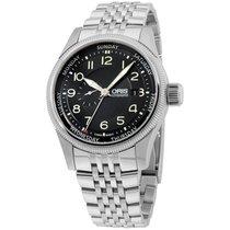 Oris Black Dial Stainless Steel Men's Watch 74576884034mb