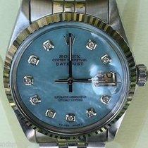 Rolex Datejust Mens Steel Watch Carolina Blue Mother Of Pearl...