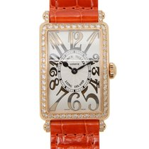 Franck Muller Long Island 18 K Rose Gold With Diamonds Silver...