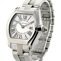 Cartier W62016V3 Roadster Ladys in Steel - on Steel Bracelet...