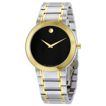 Movado Stiri Black Dial Two-tone Men's Watch