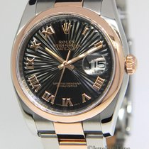 Rolex Datejust 18k Rose Gold & Stainless Steel Sunburst...