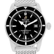 Breitling Superocean Heritage 42 Black Dial Mesh Bracelet...