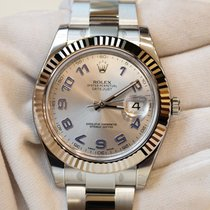 Rolex Datejust II 41mm rhodium dial in stainless steel and...