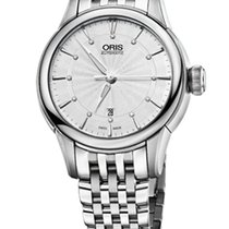 Oris Artelier Date Diamonds Steel Dial