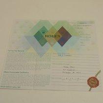 Rolex Warranty Certificate Ref: 16710