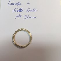 Rolex Lünette mit Brillantbesatz in Gelbgold für Rolex Medium...