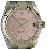 Rolex Datejust Medium Stahl/Weißgold Automatik Oyster Armband...