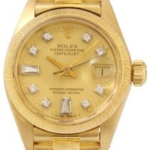 Rolex Vintage Lady Datejust President Yellow Gold Watch,...