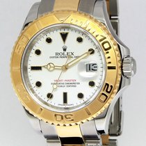 Rolex Yacht-Master 18k Yellow Gold/Steel White Dial Mens Watch...