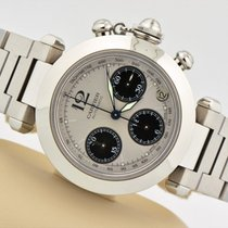 Cartier Pasha Chronograph Automatic Stainless Steel Watch 2412...