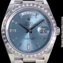 Rolex Day Date 40mm Platinum 228396btr Diamond Bezel Baguette...