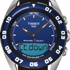 Tissot Sailing-Touch Steel On Black Rubber Men's Watch...