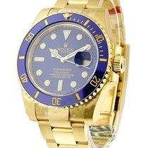 Rolex Unworn 116618 Yellow Gold Submariner - 116618 - Blue...