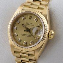 Ρολεξ (Rolex) LADY DATEJUST DIAMANT 18K GOLD GELBGOLD SERVICE...