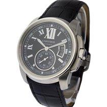 Cartier W7100041 Calibre De Cartier - Steel on Leather Strap...
