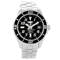 Breitling Superocean 42 Abyss Black Dial Automatic Mens Watch...