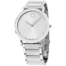 Movado Unisex Swiss Sapphire Stainless Steel Bracelet Watch...