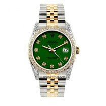 Rolex Datejust Men's 36mm Green Dial Gold And Stainless...