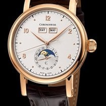 Chronoswiss Sirius Triple Date Red Gold-Silver Dial Moon Phase...