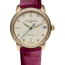 Ulysse Nardin CLASSICO LADY Pink Gold Dial White Leather Pink...