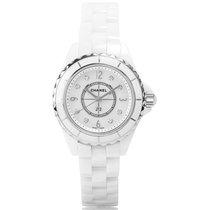Chanel J12 29mm White Ceramic Diamond Ladies Watch H2570