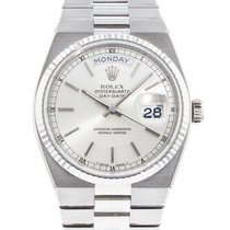 Rolex 18k White Gold Datejust Oysterquartz 19019 Watch with...