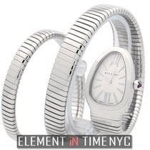 Bulgari Serpenti Stainless Steel Tubogas Silver Dial Double Twirl