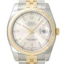 Rolex Datejust 36mm Stahl/Gelbgold Ref. 116233  Silber Index