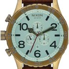 Nixon A124-2223 51-30 Chrono Leather Brass Green 51mm 10ATM