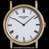 Patek Philippe 18k Yellow Gold White Porcelain Dial Calatrava...