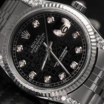 Rolex 36mm Oyster Perpetual Datejust Jubilee Bracelet Black...