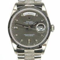 Ρολεξ (Rolex) Day-Date White gold Bark Finish Diamond dial