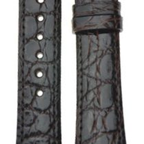 Hirsch Uhrenarmband Regent Alligator schwarz matt M 04107159-1...