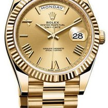 Rolex Used 228238_used_champ_roman Day Date 40 in Yellow Gold...
