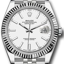 Rolex Datejust 41 126334 White Index Fluted White Gold...