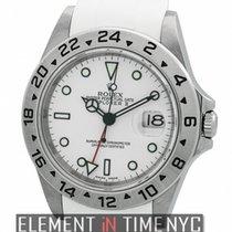 롤렉스 (Rolex) Explorer II Stainless Steel White Dial On RubberB...