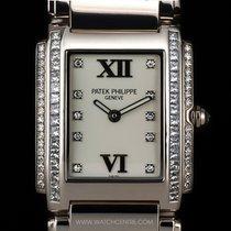 Patek Philippe 18k W/G Diamond Ladies Twenty-4 Wristwatch...