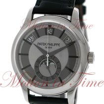 Patek Philippe Annual Calendar Moonphase, Rhodium Grey Dial -...
