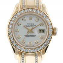 Rolex Datejust Lady Pearlmaster Gelbgold Diamond Automatik...