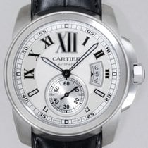 Cartier Calibre de Cartier Automatic SS Leather WHITE DIAL...