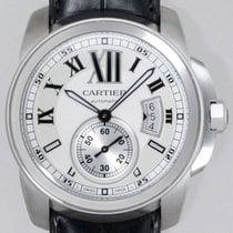 Cartier Calibre de Cartier Automatic SS Leather WHITE DIAL...