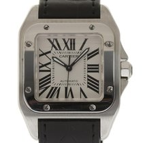 Cartier Santos 100 Mid Size W20106X8 Steel Automatic Box/Paper...