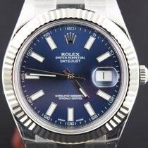 Rolex Datejust II Steel, Blue Dial 41MM Full Set 116334