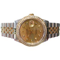 Rolex Datejust Two-tone Yellow Gold Stainless Steel Diamond...